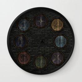 Medieval Shields Wall Clock