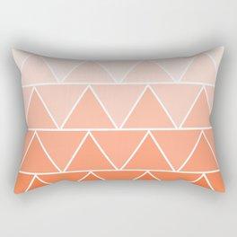 Orange Cream Soda #3 Geometric Triangles Rectangular Pillow