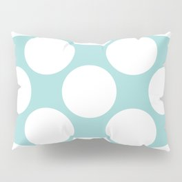 Polka Dots Blue Pillow Sham