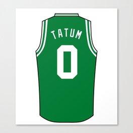 Jayson Tatum Jersey Canvas Print