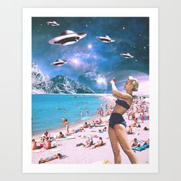 Vacation Invasion Art Print