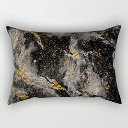 Galaxy (black gold) Rectangular Pillow