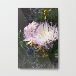 When the sunlight hits  |  Fresh Cut Flowers Metal Print