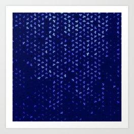 capricorn zodiac sign pattern std Art Print