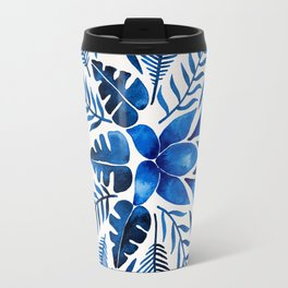 Tropical Symmetry – Navy Travel Mug