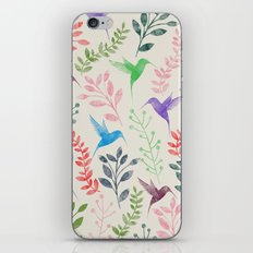 Floral & Birds II iPhone Skin