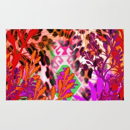 Jungle Leopard Electric Pinks Rug