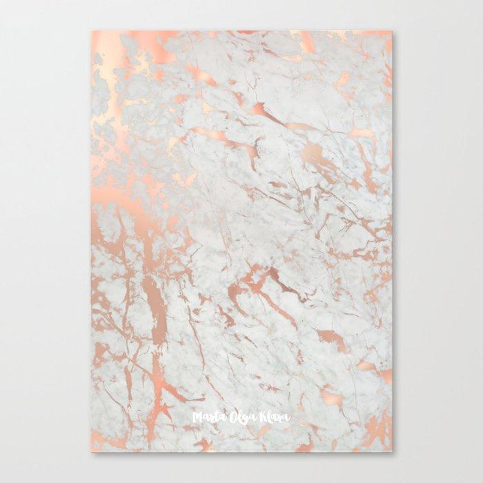 Rose Gold Marble Canvas Print By Martaolgaklara Society6