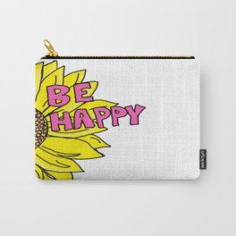 Sunflower  Be Happy Carry-All Pouch