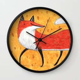 Sassy Little Fox Wall Clock