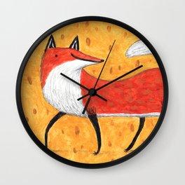 Sassy Little Fox Wall Clock
