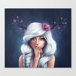White-haired Girl Canvas Print