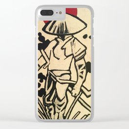 Ronin (Warrior Monk) Clear iPhone Case