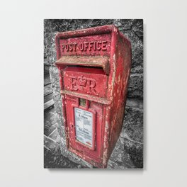 British Post Box Metal Print
