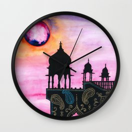 Rajasthan Sunset Wall Clock