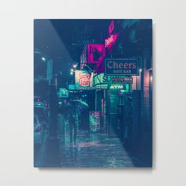 6th Street during Hurricane Harvey Metal Print