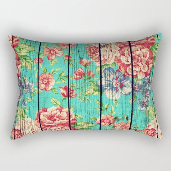 Flowers on Wood 06 Rectangular Pillow