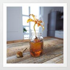 Honey Flower Art Print