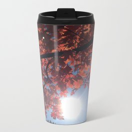 Sun Through the Fall Leaves Metal Travel Mug