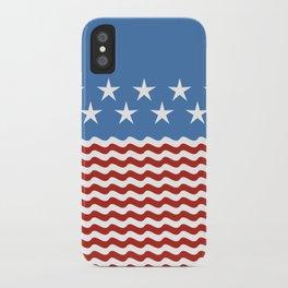 Patriotic Wave iPhone Case