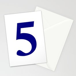 5 (NAVY & WHITE NUMBERS) Stationery Cards