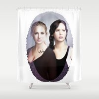 divergent Shower Curtains featuring The Divergent Games by Clara J Aira