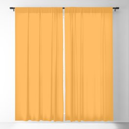 From The Crayon Box – Yellow Orange - Bright Orange Solid Color Blackout Curtain