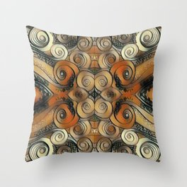 Coiled Metals Throw Pillow