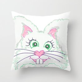 Funny Bunny Bed and Bath Throw Pillow