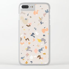 Lively Colorful Terrazzo Pattern Clear iPhone Case