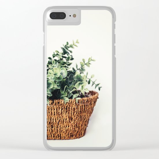 Plant On White Clear iPhone Case
