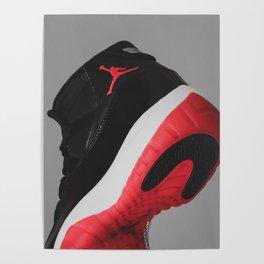 Air Jordan 11 - Bred - Print 1 Poster