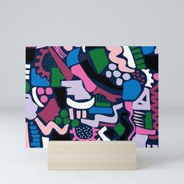 Dark colour scatter Mini Art Print