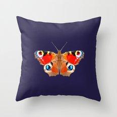 Geometric Butterfly Throw Pillow