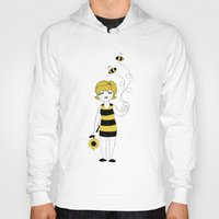 bees Hoodies featuring Bees by Flora