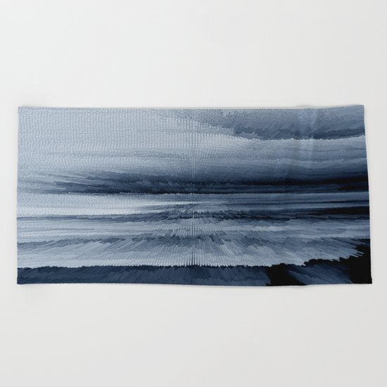 Abstract black painting 2 Beach Towel