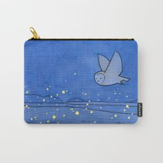 Owl and Fireflies Carry-All Pouch