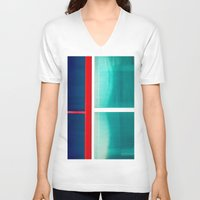 frames V-neck T-shirts featuring FRAMES OF COLORS by Hidden Streets