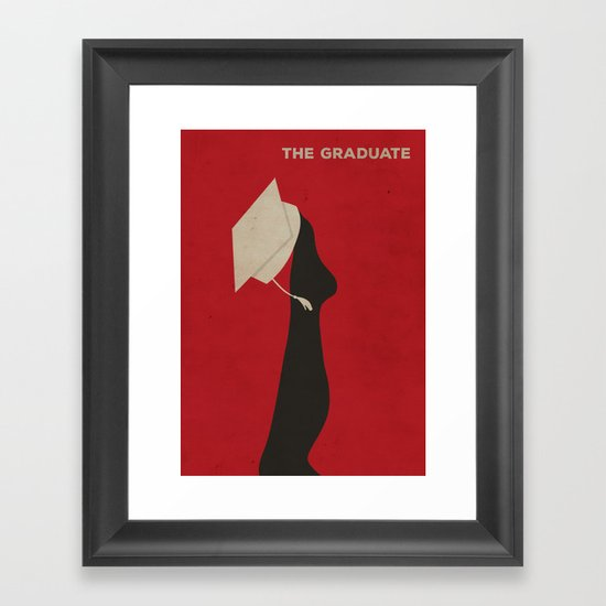 The Graduate Minimalist Poster Framed Art Print