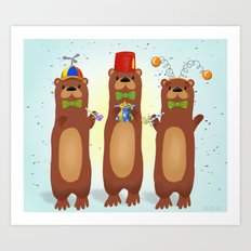 Otter Party And You Are Invited Art Print