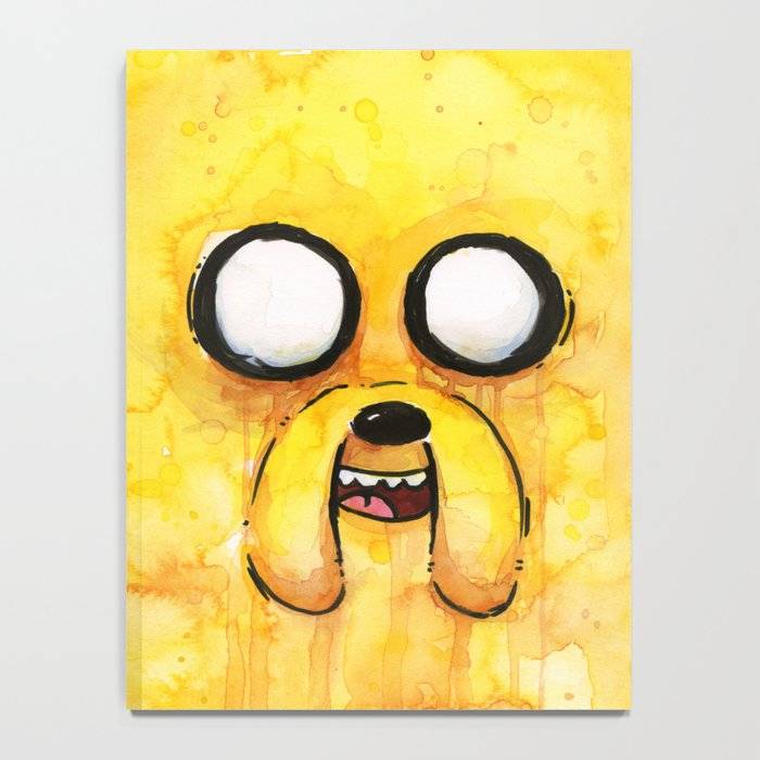 Jake Face Yellow Dog Cartoon Character Notebook