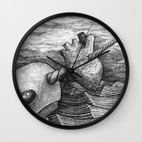 narwhal Wall Clocks featuring Narwhal by GrimReminders