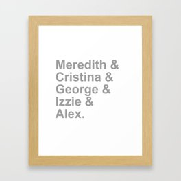 Grey Squad Framed Art Print