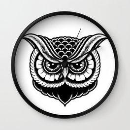 Traditional Owl Print Wall Clock