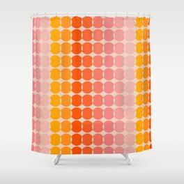 Strawberry Dots Shower Curtain