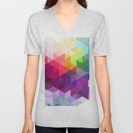 Pixel Prism Unisex V-Neck