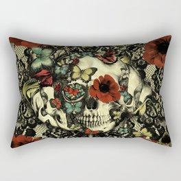 Vintage Gothic Lace Skull Rectangular Pillow