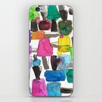 nail polish iPhone & iPod Skins featuring Nail Polish by KahriAnne Kerr