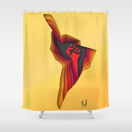 Latinamerica resists Shower Curtain