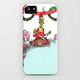 Festive Grinch iPhone Case